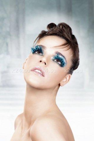 Ресницы голубые перья, фото 3