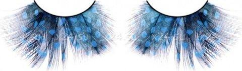 Ресницы голубые перья, фото 4
