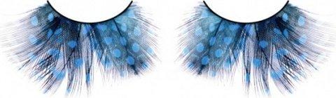 Ресницы голубые перья, фото 6