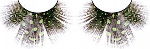 Ресницы светло-зелные перья, фото 2