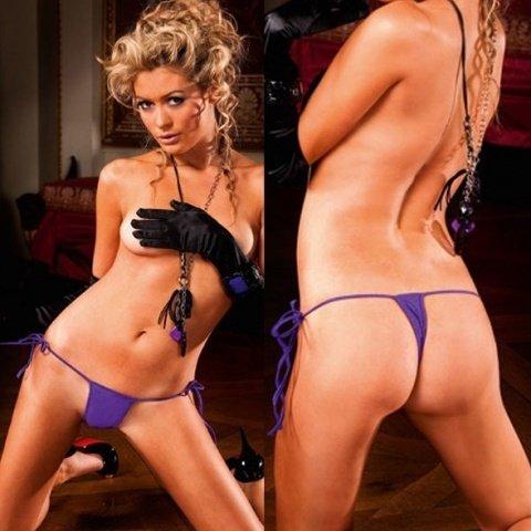 Стринги фиолетовые на завязках, фото 5