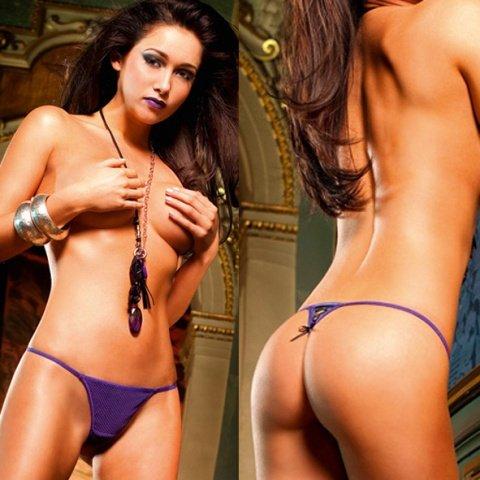 NeonBarock Трусики женские , фиолетовый/черный, фото 4