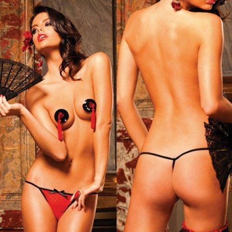 Spanish Трусики женские , красный/черный, фото 3