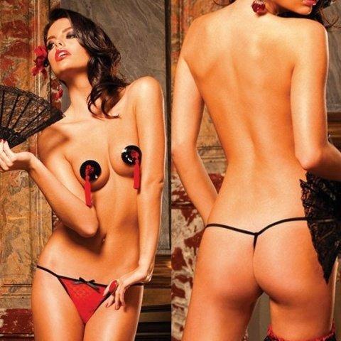 Spanish Трусики женские , красный/черный, фото 4