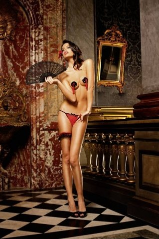 Spanish Трусики женские , красный/черный, фото 5