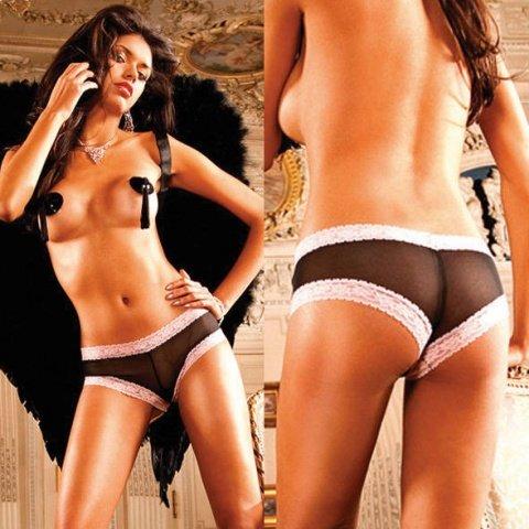 Ange Трусики женские , черный/фиолетовый, фото 3