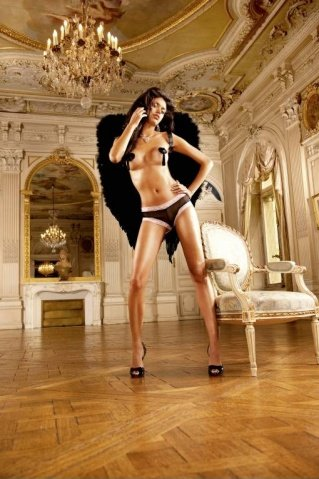 Ange Трусики женские , черный/фиолетовый, фото 5