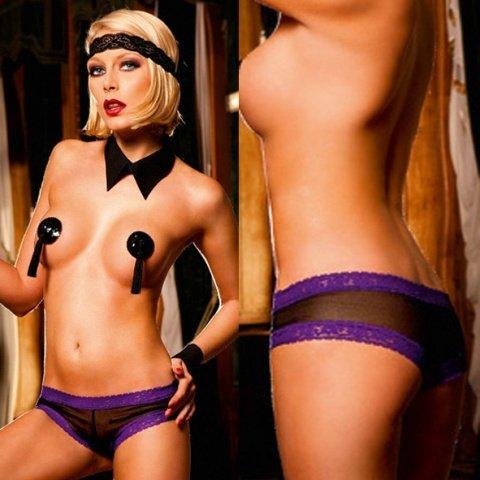Ange Трусики женские , черный/розовый, фото 4