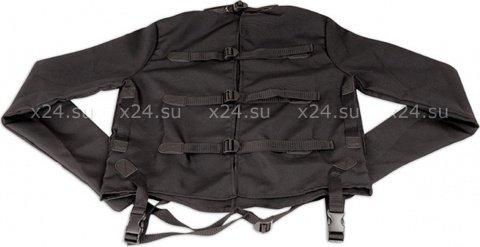 Черная смирительная рубашка унисекс Straight Jacket, фото 3