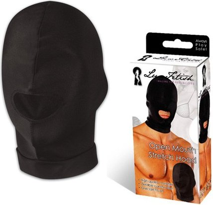Эластичная маска на голову с прорезью для рта, фото 3