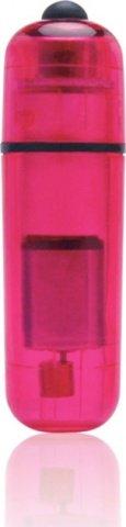 Компактный розовый стимулятор вибро-пулька