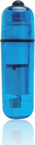 Компактный синий стимулятор вибро-пулька, фото 2