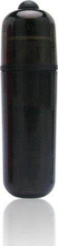 Компактный черный стимулятор вибро-пулька, фото 2