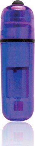 Компактный фиолетовый стимулятор вибро-пулька, фото 2