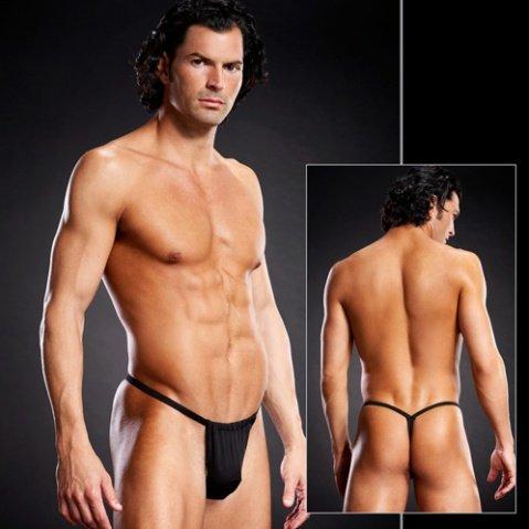 Черные V-стринги для мужчин
