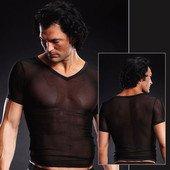 Сетчатая футболка черная L/XL - Секс-шоп Мир Оргазма