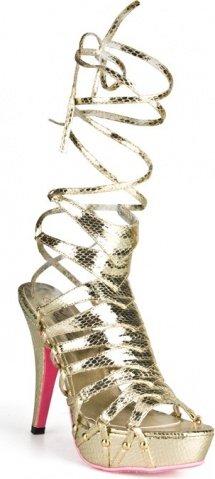 Золотистые босоножки из искусственной змеиной кожи snake style 41