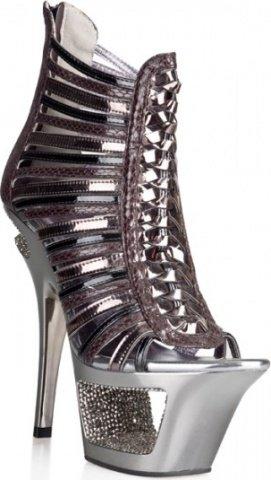 Туфли под питона с блестящими кристаллами 38