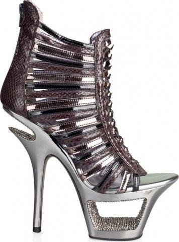 Туфли под питона с блестящими кристаллами 40, фото 2