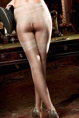 Agent Of Love Колготки светло-бежевые в виде подвязок для чулков (42-46), фото 2
