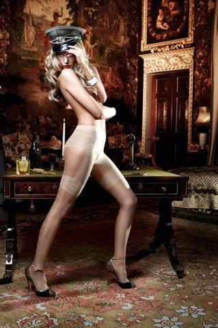 Agent Of Love Колготки светло-бежевые в виде подвязок для чулков (42-46), фото 4