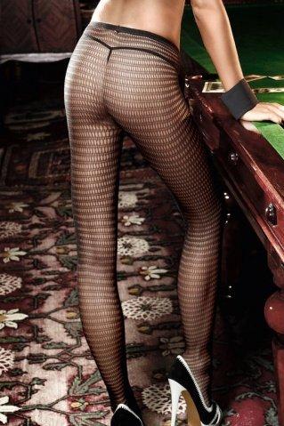 Agent Of Love Колготки черные в сеточку с нежным узором (42-46), фото 2