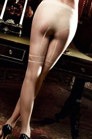 Agent Of Love Колготки светло-бежевые с имитацией подвязок длячулков (42-46), фото 2