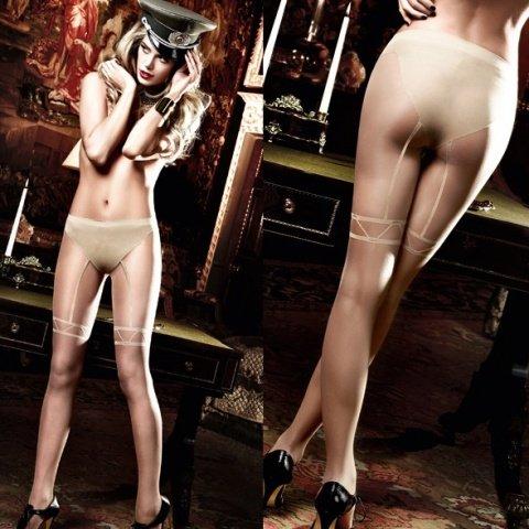 Agent Of Love Колготки светло-бежевые с имитацией подвязок длячулков (42-46), фото 3