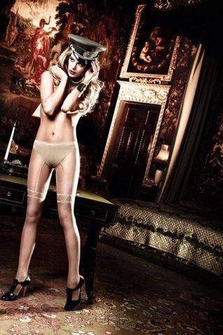 Agent Of Love Колготки светло-бежевые с имитацией подвязок длячулков (42-46), фото 4