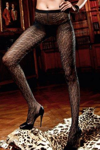 Beauty Inside The Beast Колготки черные с нежными узорами (42-46)