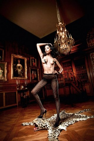 Beauty Inside The Beast Колготки черные с нежными узорами (42-46), фото 4