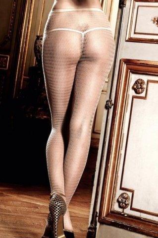 Have Fun Princess Колготки светло-бежевые в сеточку с нежными узорами (42-46), фото 3