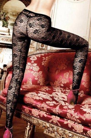 Have Fun Princess Колготки черные кружевные с цветочным узором (42-46), фото 2