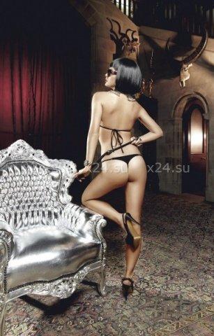 Deeper in Hell Комплект золотисто-черный кружевной комплект бикини, фото 2