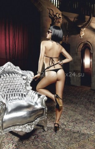 Deeper in Hell Комплект золотисто-черный кружевной комплект бикини, фото 4