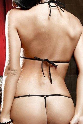 Deeper in Hell Монокини кружевно черный из тюлевой ткани с золотистыми орнаментами, фото 4
