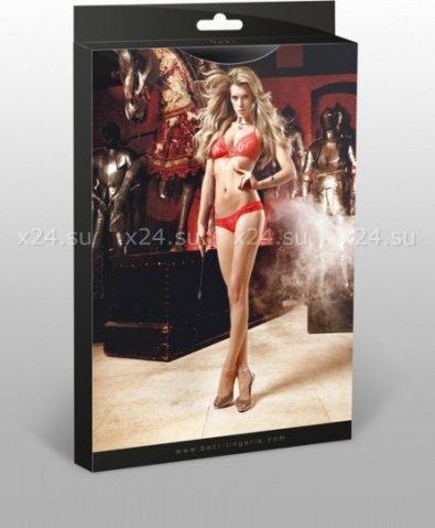 Deeper in Hell Комплект красный бикини из Бюстгальтером треугольником и трусикам с точечками, фото 3