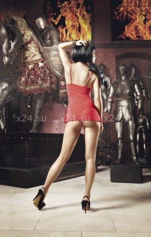 Deeper in Hell Платьице красное платьице из тюлевой ткани с точечками и G-стрингами, фото 2