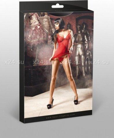 Deeper in Hell Платьице красное платьице из тюлевой ткани с точечками и G-стрингами, фото 3