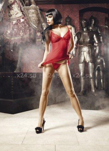 Deeper in Hell Платьице красное платьице из тюлевой ткани с точечками и G-стрингами, фото 4