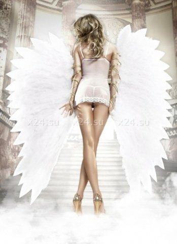 Back in Heaven Платьице белое из тюлевой ткани с косточками и мягкими чашечками, фото 3