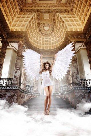 Back in Heaven Платьице белое из тюлевой ткани с косточками и мягкими чашечками, фото 8