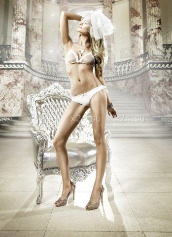 Back in Heaven Комплект бикини белый в точечку с рюшами, фото 2