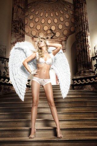 Back in Heaven Бюстгальтер белый кружевной с мягкими чашечками и косточками, фото 4