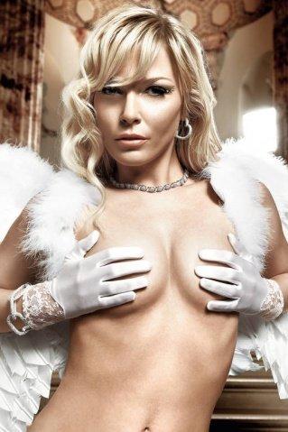 Back in Heaven Белые перчатки с кружевными манжетами