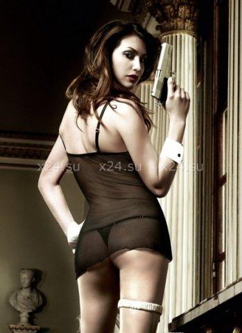 Agent Of Love Платьице черное из тюлевой ткани с косточками, фото 2