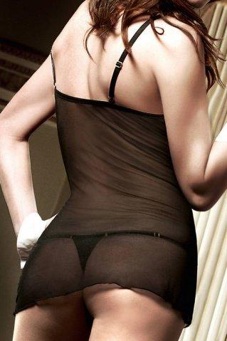 Agent Of Love Платьице черное из тюлевой ткани с косточками, фото 4