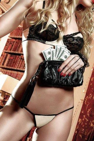 Agent Of Love Комплект бикини светло-бежевый с черными кружевными элементами и косточками ML (большое фото 5) > Секс-шоп Мир Оргазма