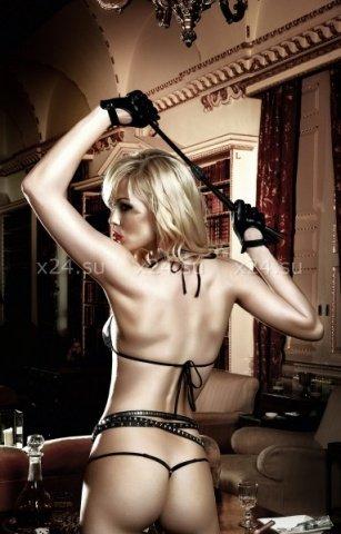 Agent Of Love Комплект бикини светло-бежевый с черным кружевом, фото 4