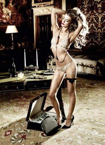 Agent Of Love Комплект бикини светло-бежевый кружевной с рюшами, фото 3